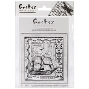 Crafty Individuals 82 mm x 92 mm Unmounted Rubber Stamp, Voyage of Discovery