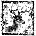 Crafty Individuals 80 mm x 80 mm Unmounted Rubber Stamp, Snowflake Rudolph