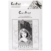 Crafty Individuals 60 mm x 110 mm Unmounted Rubber Stamp, Young Girl Dreaming