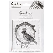 Crafty Individuals 74 mm x 87 mm Unmounted Rubber Stamp, A Royal Bird