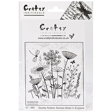Crafty Individuals 90 mm x 82 mm Unmounted Rubber Stamp, Summer Meadow