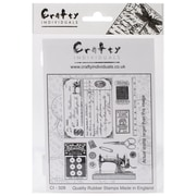 Crafty Individuals 96 mm x 137 mm Unmounted Rubber Stamp, Sewing Notions