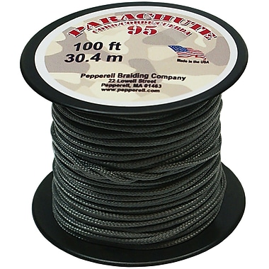 Pepperell 100' 95 Parachute Cord, Gunmetal