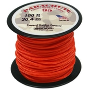 Pepperell 100' 95 Parachute Cord, Neon Orange