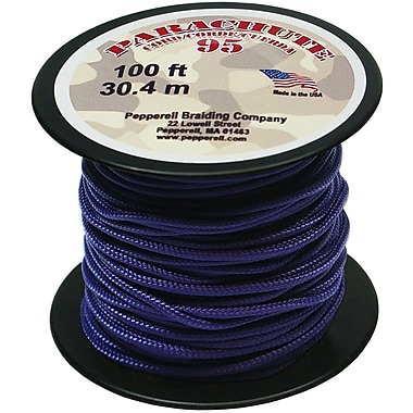 Pepperell 100' 95 Parachute Cord, Purple