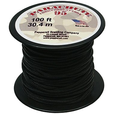 Pepperell 100' 95 Parachute Cord, Black