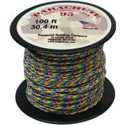 Pepperell 100' 95 Parachute Cord, Tie-Dye/Rainbow