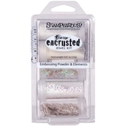 Stampendous® Encrusted Jewel Kit, White, 5/Pack