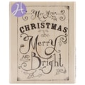 Hampton Art™ 2in. x 2 3/4in. Mounted Rubber Stamp, Merry And Bright