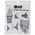 Ranger 8 1/2in. x 7in. Dylusions Cling Rubber Stamp, This Old House