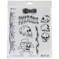 Ranger 8 1/2in. x 7in. Dylusions Cling Rubber Stamp, Day Of The Heads