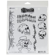 "Ranger 8 1/2"" x 7"" Dylusions Cling Rubber Stamp, Day Of The Heads"