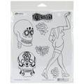 Ranger 8 1/2in. x 7in. Dylusions Cling Rubber Stamp, Pin Up Queen