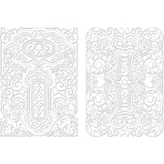 "Spellbinders® M-Bossabilities™ A4 5"" x 7"" Card Embossing Folder, Decorative Fancy Tags Two"