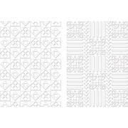 "Spellbinders® M-Bossabilities™ A4 5"" x 7"" Card Embossing Folder, Quiltworks"
