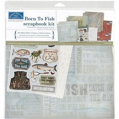 Karen Foster Born to Fish Scrapbook Page Kit, 12