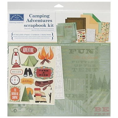 Karen Foster Camping Adventures Scrapbook Page Kit, 12