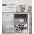Karen Foster Our Wedding Story Scrapbook Page Kit, 12in. x 12in.