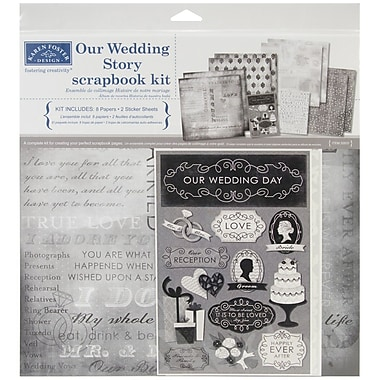 Karen Foster Our Wedding Story Scrapbook Page Kit, 12