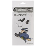 Art Impressions 7 x 4 Halloween Cling Rubber Stamp Set, Air-Hag