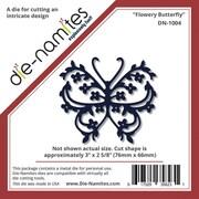 """Die-Namites 3"""" x 2 5/8"""" Steel Die, Flowery Butterfly"""