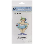"Art Impressions 7"" x 4"" People Cling Rubber Stamp Set, Sally Swimmer"