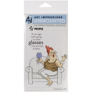 "Art Impressions 7"" x 4"" People Cling Rubber Stamp Set, Celeste"