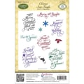 Justrite® Papercraft 5 1/2in. x 8 1/2in. Cling Stamp Set, Christmas Inner Thoughts