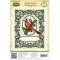 Justrite® Papercraft 4 1/2in. x 5 3/4in. Background Cling Stamp, Christmas Cardinal