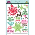 Justrite® Papercraft 6in. x 8in. Clear Stamp Set, Holiday Magic