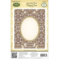 Justrite® Papercraft 4 1/2in. x 5 3/4in. Background Cling Stamp, Lace Oval Frame