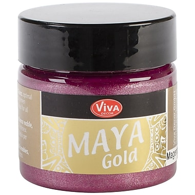 Viva Decor Maya Gold 50 ml Liquid Metallic Paint, Magenta