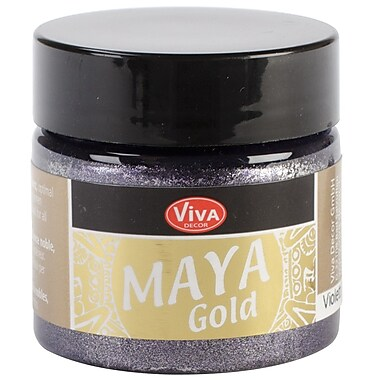 Viva Decor Maya Gold 50 ml Liquid Metallic Paint, Violet