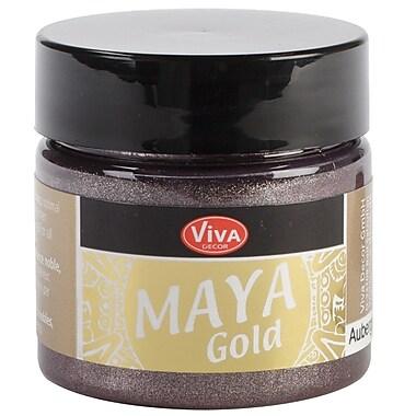 Viva Decor Maya Gold 50 ml Liquid Metallic Paint, Aubergine