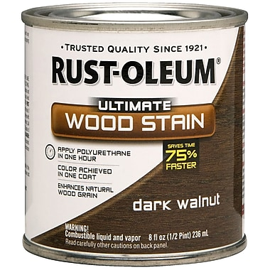 Rust-Oleum® Ultimate Wood Stain, Dark Walnut, Half Pint, 8 oz.