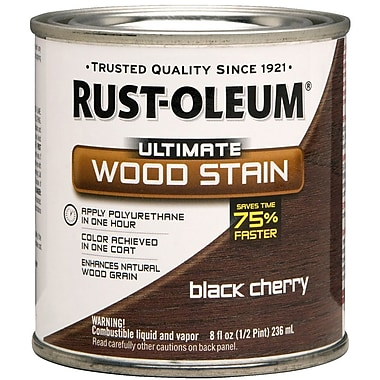 Rust-Oleum® Ultimate Wood Stain, Black Cherry, Half Pint, 8 oz.