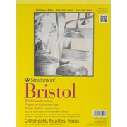 "Strathmore® 300 Series 9"" x 12"" Bristol Smooth Paper Pad, 20 Sheets/Pack"