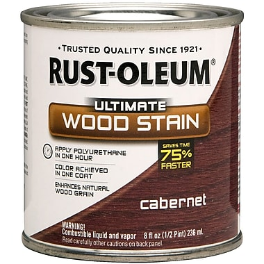 Rust-Oleum® Ultimate Wood Stain, Cabernet, Half Pint, 8 oz.