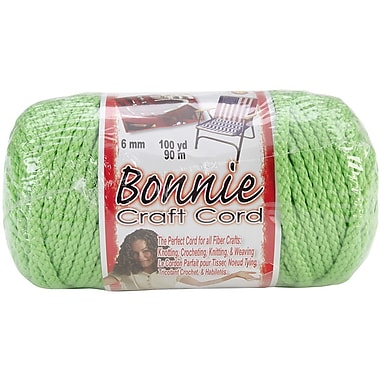 Pepperell Bonnie Macrame Craft Cord, 6 mm x 100 yds., Parrot