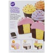 "Wilton® 10.8"" x 15.9"" 12 Compartment Two Tone Cupcake Pan Set"