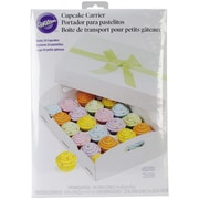 Wilton® 24 Compartment Folding Tray Cupcake Box, White
