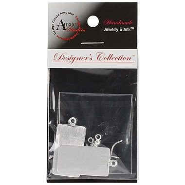 Amate Studios™ Designer's Flat Rectangle Jewelry Set, Silver Overlay