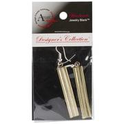 Amate Studios™ Designer's Channel Dangle Rectangle Earring Set, Brass