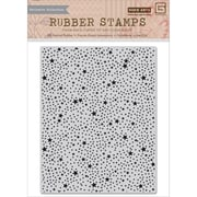 "Basic Grey 5"" x 4 1/4"" RSVP Cling Photopolymer Stamp, Tiny Star Background"