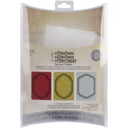Sizzix® Texture Trades A2 4 1/2 x 2 7/8 Embossing Folder, Outline Labels