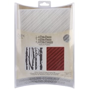 Sizzix® Texture Fades A2 5 3/4 x 4 1/2 Embossing Folder, Birch Trees And Candy Stripes