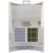 Sizzix® Texture Fades A2 5 3/4 x 4 1/2 Embossing Folder, Snowflake Pattern And Plaid