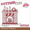 CottageCutz® Elites 3.6in. x 3in. Thin Metal Die, Christmas Fireplace