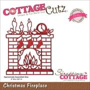 "CottageCutz® Elites 3.6"" x 3"" Thin Metal Die, Christmas Fireplace"