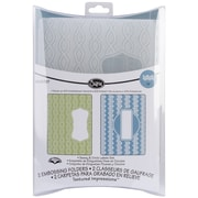 Sizzix® Textured Impressions A2 5 3/4 x 4 1/2 Embossing Folder, Sassy And Circle Labels